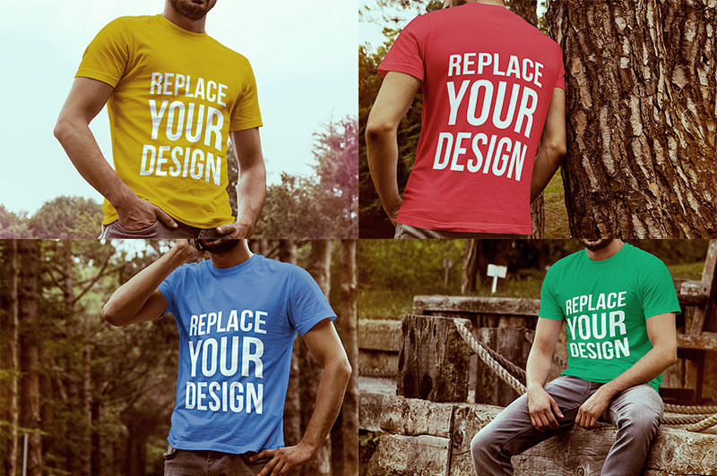 4-Free-T-shirt-Mock-up-Templates