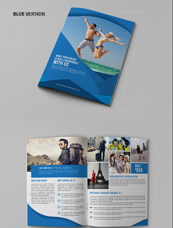 Agency Bifold Travel Brochure Template