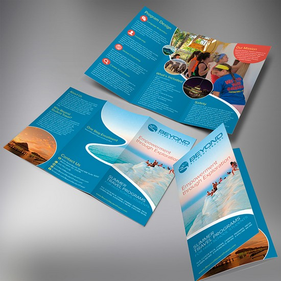 Beyond Student Travel Brochure Template