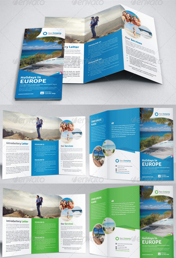 Holiday Travel Brochure Template
