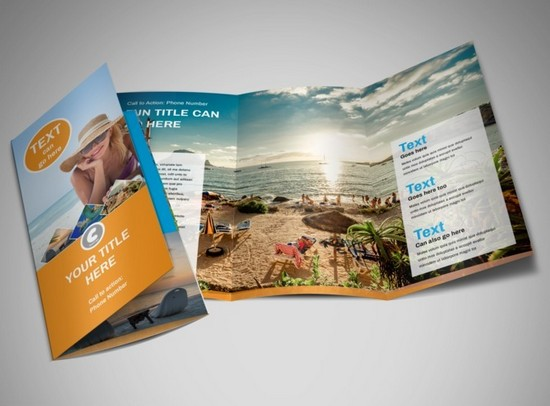 Sunny Tri Fold Travel Brochure Template