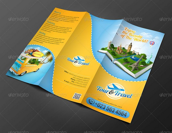 Tour Travel Brochure Template