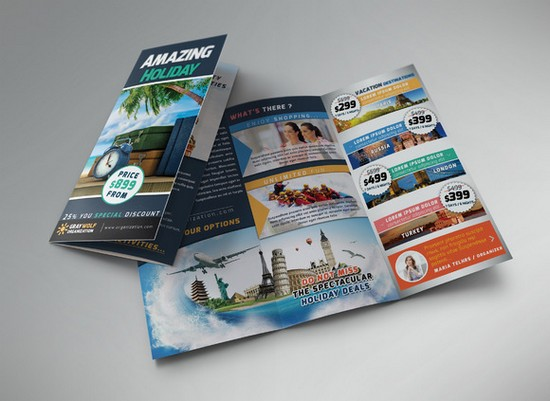 Travel Tour Trifold Brochure and F