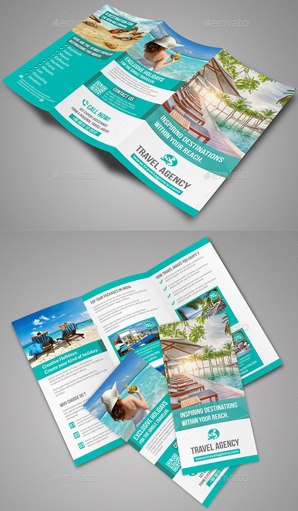 Travel Tri Fold Tourist Brochure Template