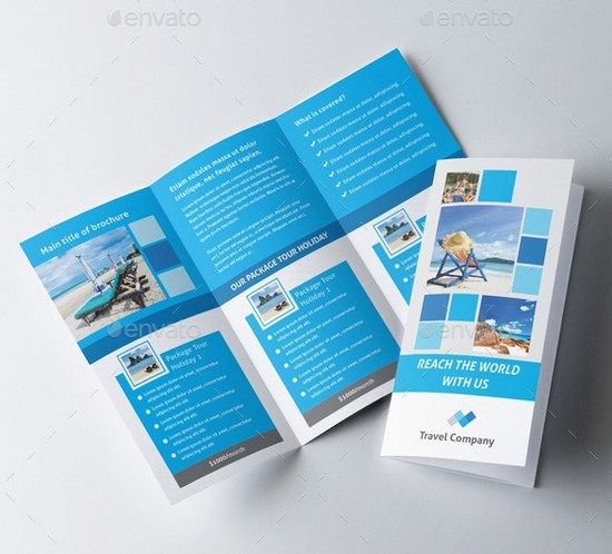 Travel Trifold Tourist Brochure Templates