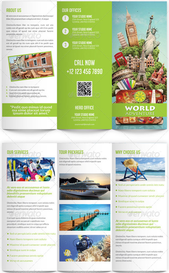 Travel and Tourism Trifold Template