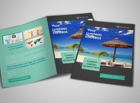 World Travel Agent Fold Brochure Template