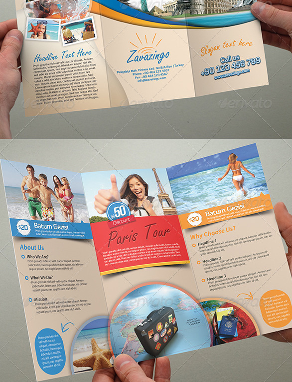 best trifold brochure Tourist Brochure Template
