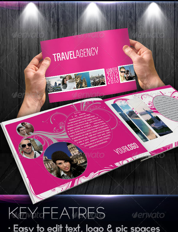 fancy travel agency Travel Brochure Template