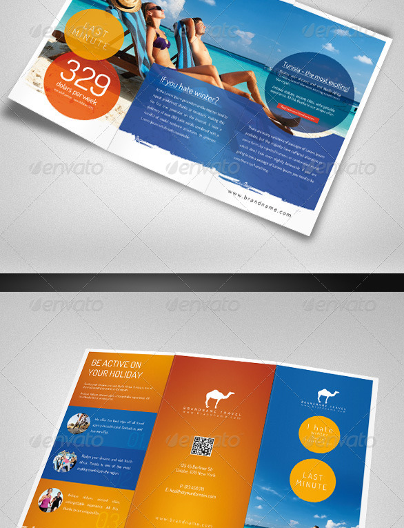 travel agency Tourist Brochure Templates