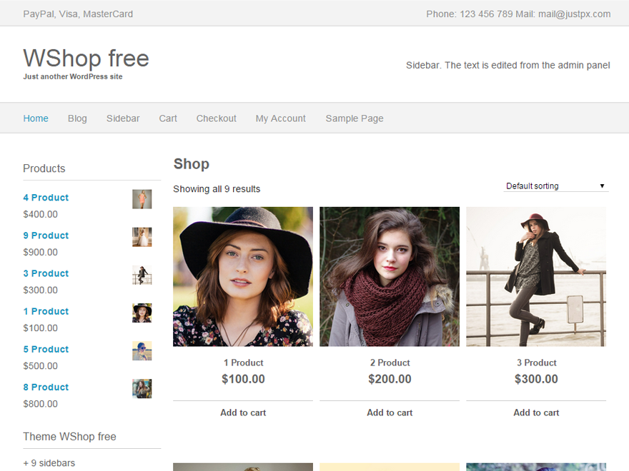 wordpress ecommerce Themes download