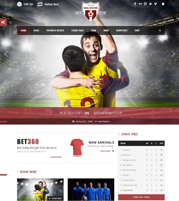 Football soccer wordpress sports themes free