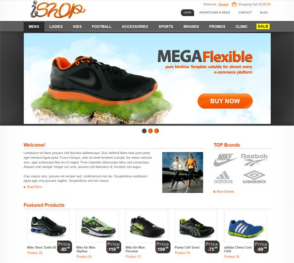 free ecommerce website templates - 70 best free html ecommerce website templates 2017