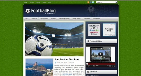 Wordpress Football Blog free