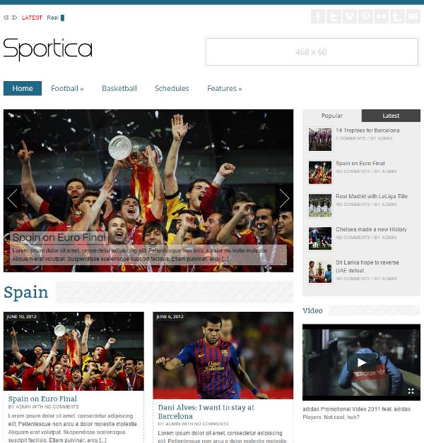 free wordpress sports football theme