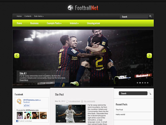 wordpress Free Football theme