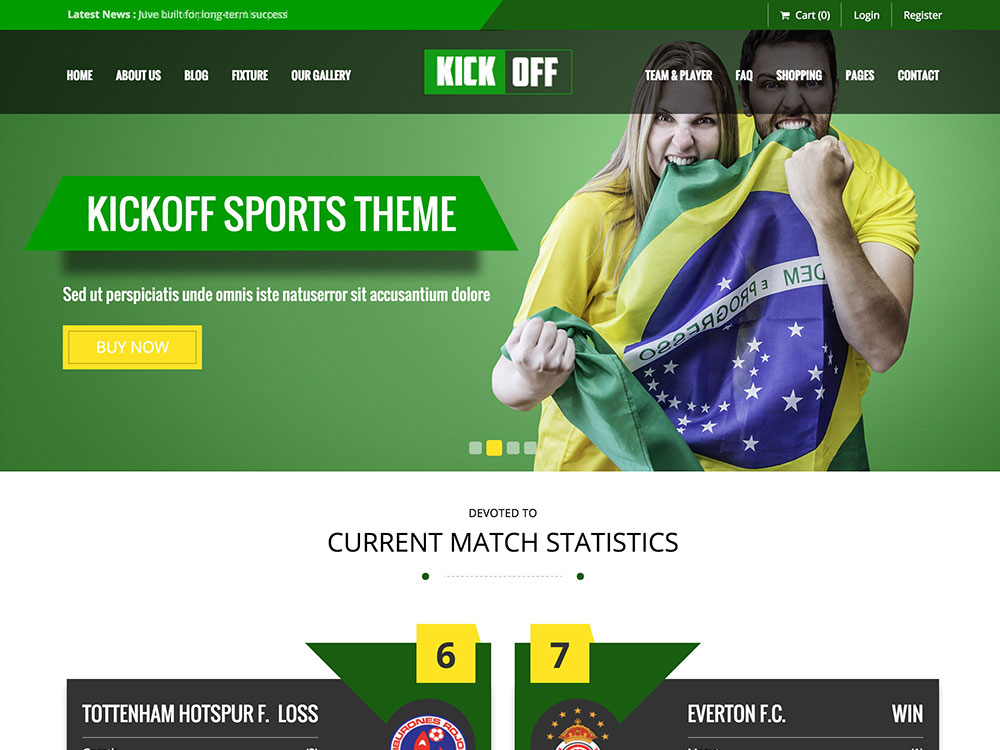 wordpress theme sports free