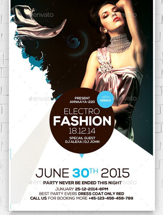 Fashion Night Psd Flyer Template
