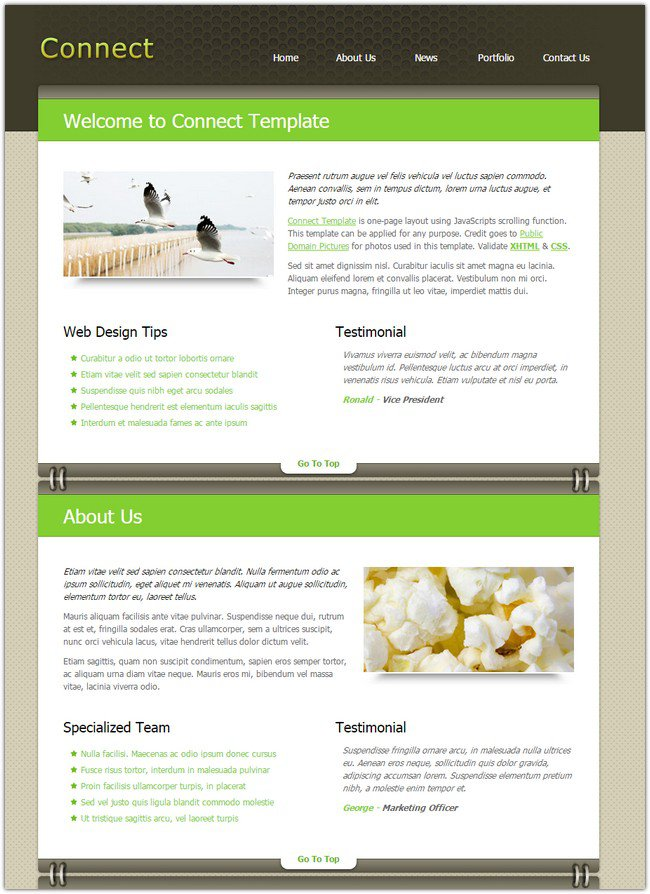 45 best free dreamweaver templates for Dreamweaver layout templates