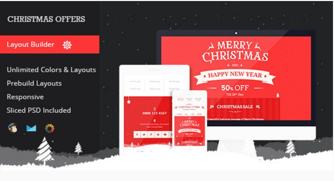 christmas offer email template