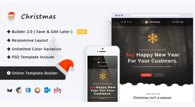 christmas responsive email templates