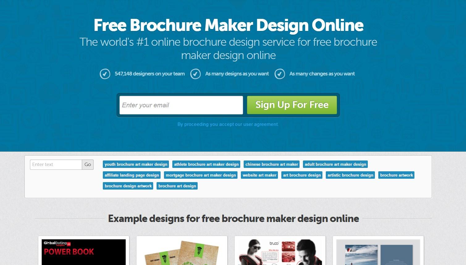 design a brochure online free