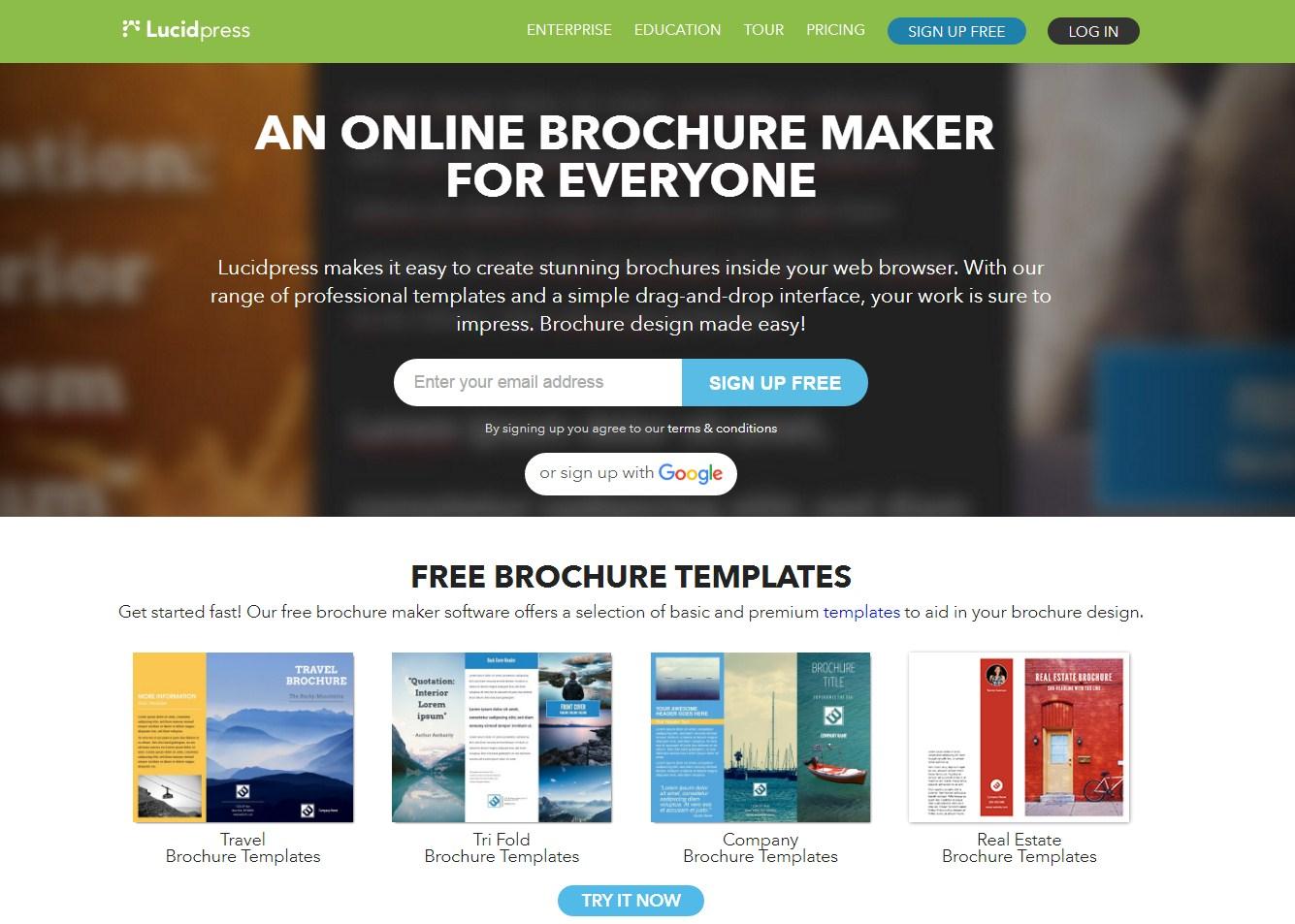 free brochure maker