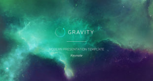 gravity powerpoint modern presentation template