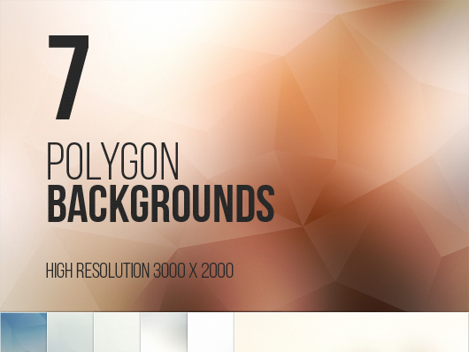 7 Beautiful Polygon Backgrounds