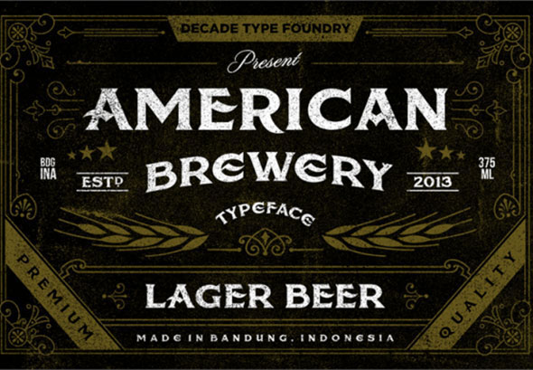 american beer tattoos font