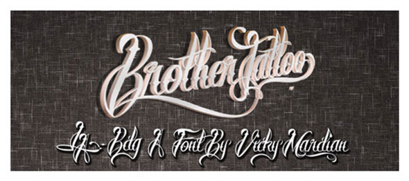 brother tattoos font