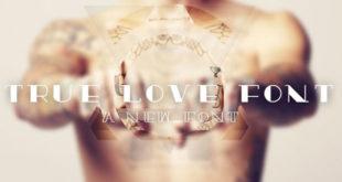 truelove tattoos font
