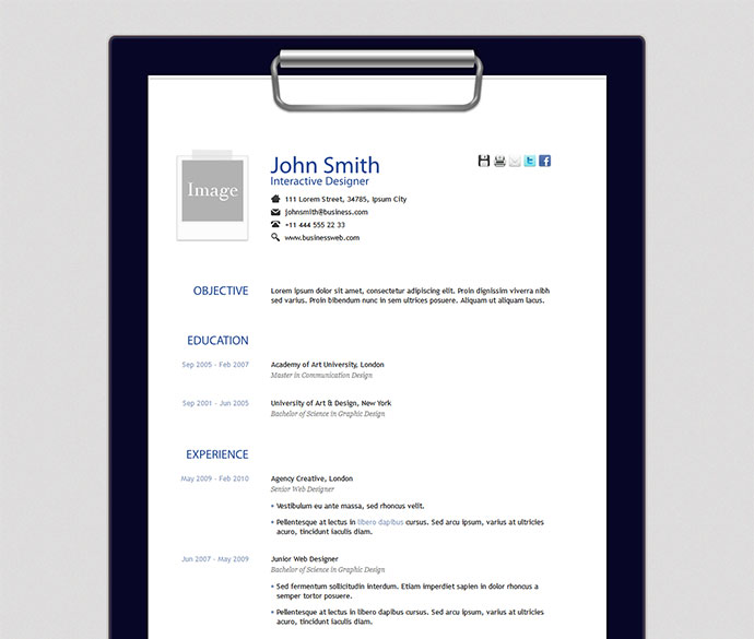 14 Indesign Resume Templates
