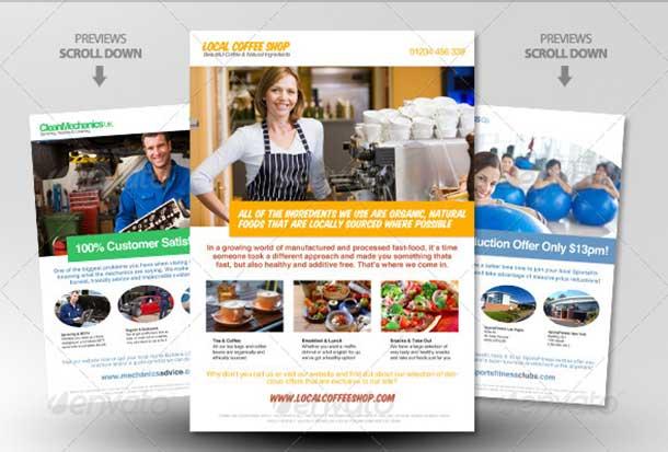 4x Clean Magazine Ad Magazine Template