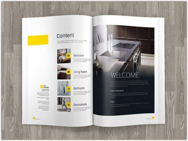 A4 Brochure Ad Magazine TemplateMock up
