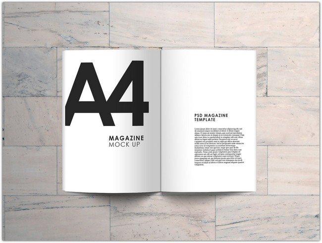 A4 Magazine Mock Up FREE