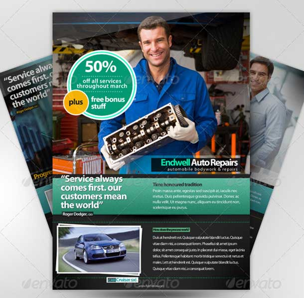 A4 PSD Magazine Advertisement Templates