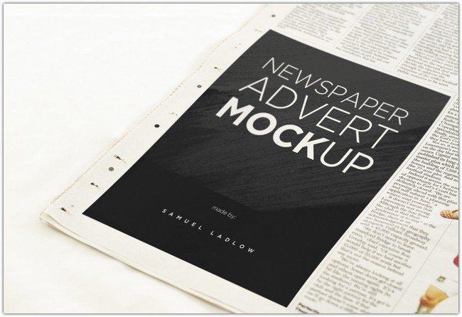 Ad Magazine Template 6 Newspaper Advert Mockups