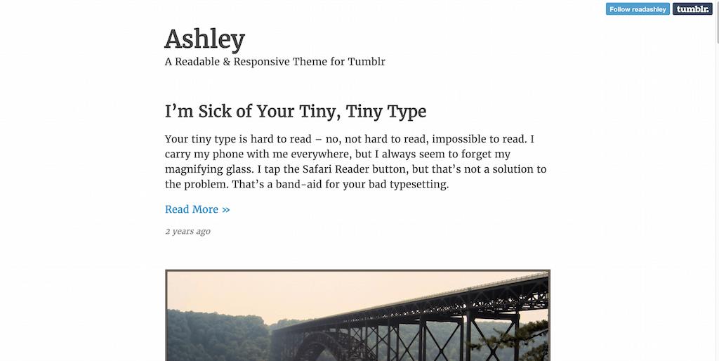 Ashleyresponsive tumblr theme