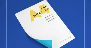 Beautiful A4 Paper PSD MockUp Template