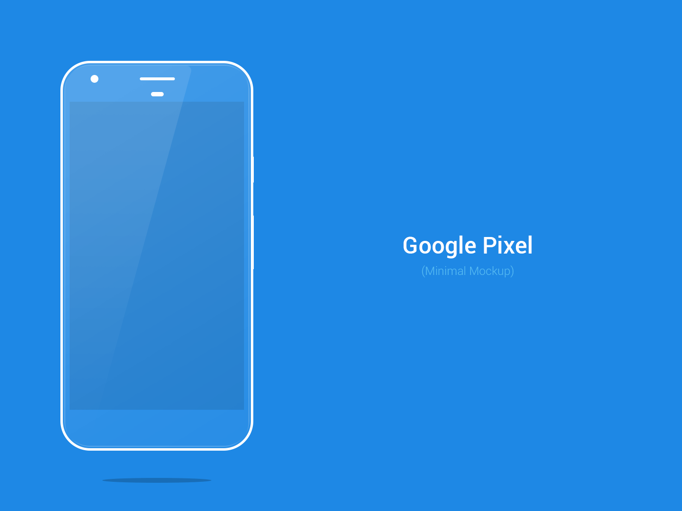 Blue Google Pixel Minimal PSD Mockup