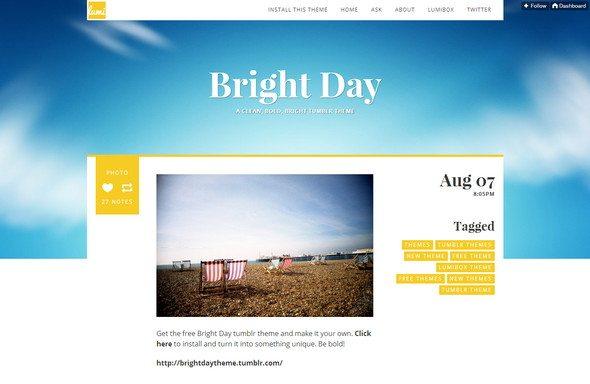 Bright Dayresponsive tumblr theme