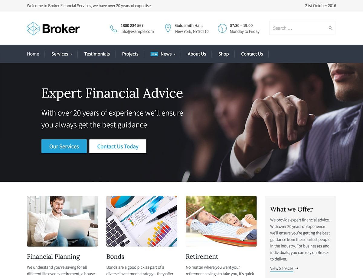 Broker Insurance WordPress Theme