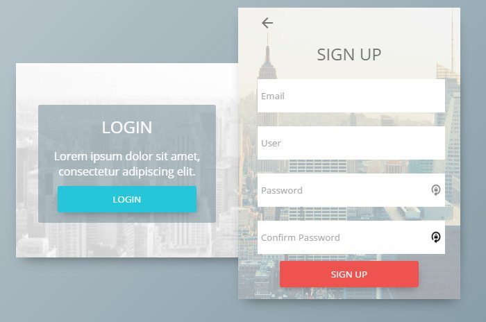 CSS Signup Form Concept download