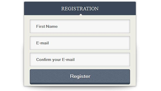 CSS Signup Neat form