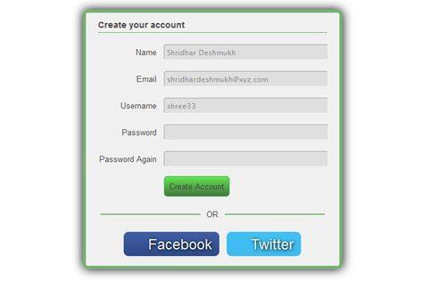 CSS Signup Registration Form Desgin