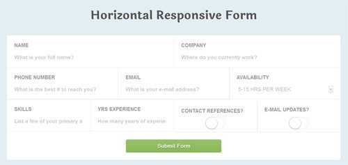 CSS Signup Responsive CSS3 Application Style Form