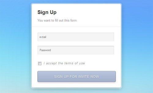CSS Signup Sleek Form