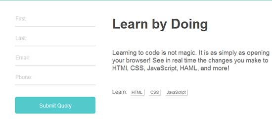 CSS Signup form free