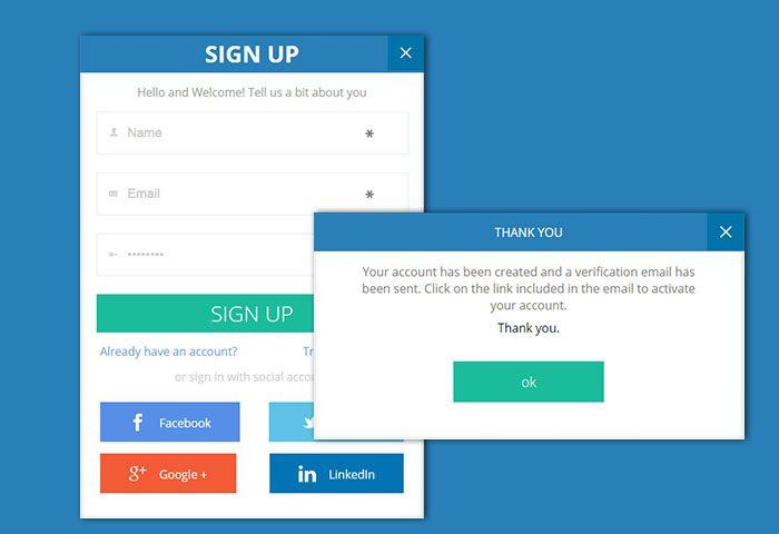 CSS flat signup